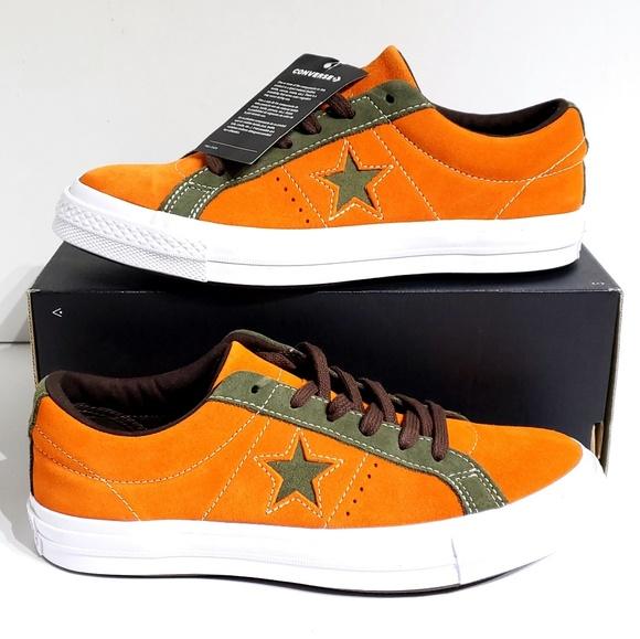 Converse One Star OX Mandarin Orange Skate Shoes NWT